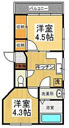 いがらしコーポ[1階]の間取り