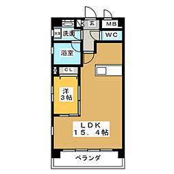 Felice Izumi[2階]の間取り