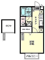 セジュールMAI[2階]の間取り