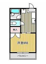 神奈川県相模原市南区西大沼3丁目の賃貸アパートの間取り
