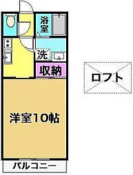 宮崎県宮崎市大字本郷北方の賃貸アパートの間取り