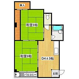 クローカス三条[4階]の間取り