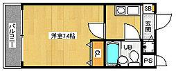 京都府京都市右京区西院北矢掛町の賃貸マンションの間取り