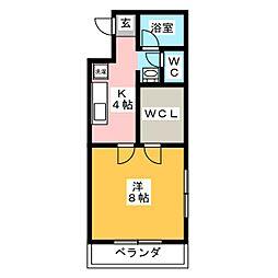 R−1 TOKURA[1階]の間取り