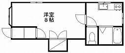 新潟県新潟市中央区万代5丁目の賃貸アパートの間取り