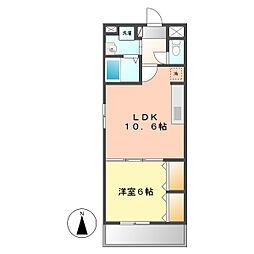 愛知県名古屋市西区山木1丁目の賃貸マンションの間取り