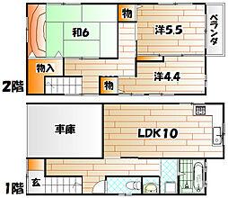 [一戸建] 福岡県北九州市若松区童子丸2丁目 の賃貸【/】の間取り