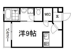 京阪本線 龍谷大前深草駅 徒歩8分の賃貸マンション 5階ワンルームの間取り