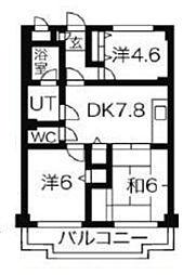 東京都練馬区関町南1丁目の賃貸マンションの間取り