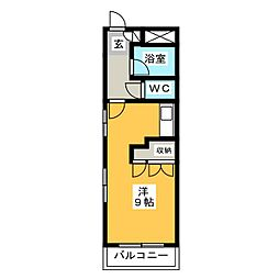 サンコウ原田[5階]の間取り