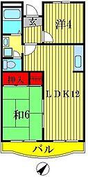 山崎マンション[3階]の間取り