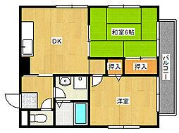 兵庫県神戸市灘区篠原南町2丁目の賃貸アパートの間取り