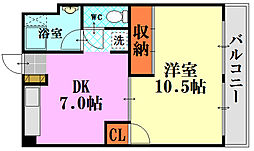 藤田東雲ビル[702号室]の間取り