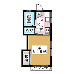 アーバンハイツ桜ヶ丘[1階]の間取り