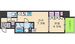 ザ・パークハビオ堂島[11階]の間取り