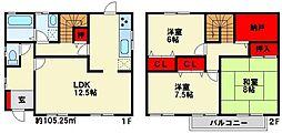 [一戸建] 福岡県北九州市小倉南区中曽根2丁目 の賃貸【/】の間取り
