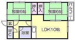 ホレストハウス B[2階]の間取り
