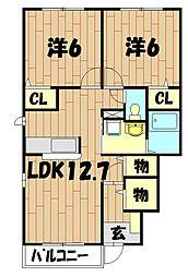 リブェールSHINO IV[1階]の間取り