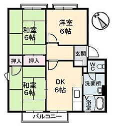 フレグランスフローラA棟[2階]の間取り