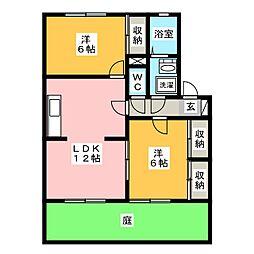 エスポワ−ル菱野 B棟[1階]の間取り