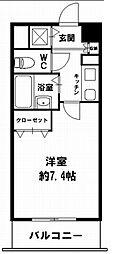 プレサンス上町台東平[6階]の間取り