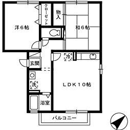 エスポワール松本 B棟[B302号室]の間取り