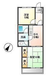 古井公団マンション[2階]の間取り