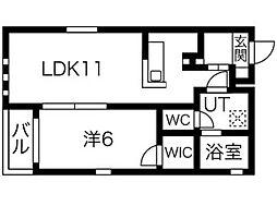 Prendre筒井[3階]の間取り