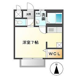 三重県鈴鹿市南江島町の賃貸アパートの間取り