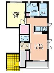 プレシャスT・S A棟[1階]の間取り