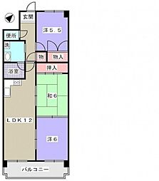 イーリス新井口[1階]の間取り