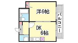 プレアール神戸[301号室]の間取り
