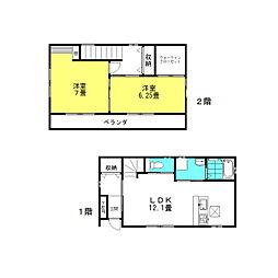 [一戸建] 茨城県神栖市神栖3丁目 の賃貸【/】の間取り
