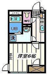 東京都葛飾区奥戸8丁目の賃貸アパートの間取り
