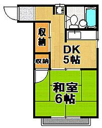 コーポラス岡本[2階]の間取り
