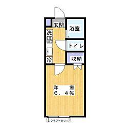 ジオメトリ八潮[1階]の間取り