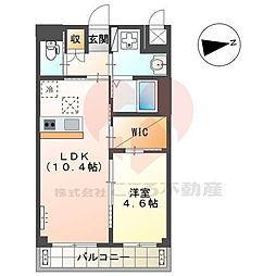 (仮称)堺市北区新金岡町新築マンション 2階1LDKの間取り