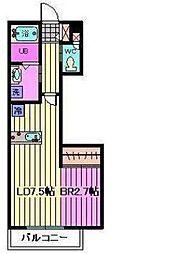 グランデージ宮原[3階]の間取り