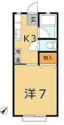 千葉県市川市湊の賃貸アパートの間取り