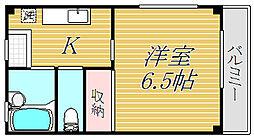 東京都狛江市元和泉3丁目の賃貸アパートの間取り