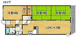 RF泉佐野[6階]の間取り