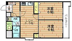 富士プラザ2中央[7階]の間取り