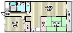 ソレアードカーサ[3階]の間取り