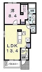 モンテ ラガッツァ[1階]の間取り