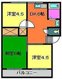 サンハイツI・II[2階]の間取り