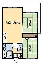 村田マンション[302号室]の間取り