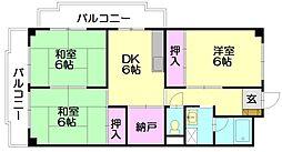 シティハイツ篠栗[4階]の間取り