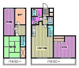 ベルメゾン[2階]の間取り