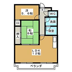 ボナセーラ竹田[4階]の間取り