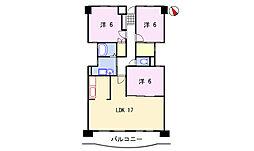 メゾン芳村[3階]の間取り